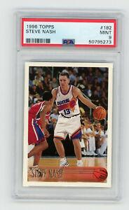 1996-97 Topps Steve Nash #182 PSA 9 MINT Rookie RC Basketball Card Phoenix