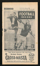 1965 Football Record Richmond v Hawthorn Home & Away May15 Tigers Hawks