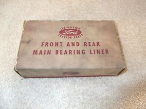GENUINE FORD 2N 8N 9N TRACTOR FRONT AND REAR MAIN BEARING LINER NOS