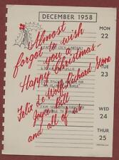 1958. Felix de Wolfe + Christmas Card yg18