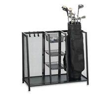 Metal Two Golf Clubs Bag Organizer, Equipment Accessories Storage, Garage Rack