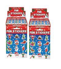 48 Pegatinas de Navidad divertidos (4 hojas) niños artes manualidades libro de pegatinas media