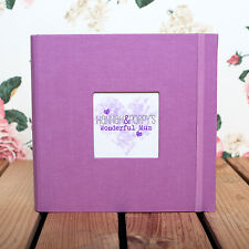 PERSONALISED PHOTO ALBUM FOR MUM - Holds 200 6x4 inch photos  *LOVELY GIFT IDEA*