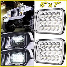 "2x 5x7"" 7x6"" LED Spot Work Light Sealed Beam H4 Driving High-Low Headlight Truck"