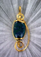 OPAL GEMSTONE PENDANT, NECKLACE IN 14KT ROLLED GOLD WIRE WRAPPED