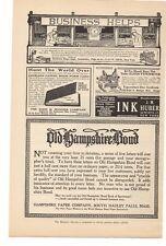 1914 J. M. Huber INK, Hampshire Paper Co., John B Wiggins Co. Advertisement