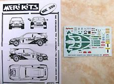"""FORD ESCORT COSWORTH 6° RALLYE MONTE CARLO 1994 BRUNO THIRY """"GIESSE"""" DECALS"""