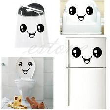 Hot Creative Toilet Smiling Face Bathroom DIY Decal Funny Vinyl Sticker Wall Art