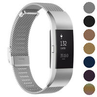 StrapsCo Stainless Steel Milanese Mesh Watch Band Strap for Fitbit Charge 2