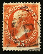 U.S. #163 15c Yellow Orange 1873 Used
