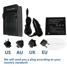 Battery + Charger for Panasonic Lumix DMC-FT20 DMC-FT25 Tough Digital Camera