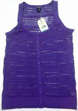 Canyon River Blues Women\u2019s Girl\u2019s Dark Cornflower Blue Side Drawstring Long Sleeves Button Up blouse size M