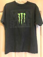 Monster Energy Drink Logo T Shirt Men's Size Medium - ONC Ind.Advanced Moto Unit