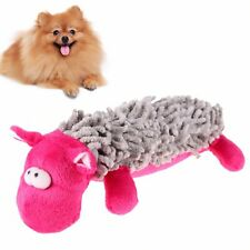 PINK GREY SHEEP Plush and Squeaky PUPPY DOG CHEW TOY