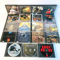 Computer Video Games Lot of 19 - Battlefield 1942, Command & Conquer, Gunship ++