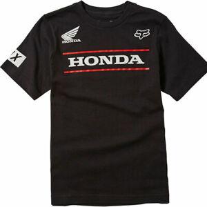 2021 Fox Youth Honda SS Tee - Black, Youth Medium (Age 8-9 years)