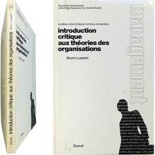 Introduction critique théories des organisations 1972 Bruno Lussato management