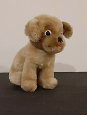 "Vintage Steiff ""Mopsy"" Mohair Sitting Baby Bulldog Puppy Dog approx 5"""