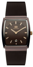 Danish Design Stainless Steel Mens Date Watch Black Leather Band Iq17q900