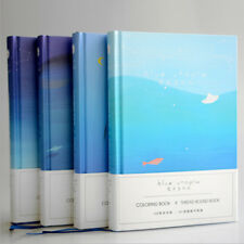 """""""Blue Ocean"""" 1pc Hard Cover Big Notebook Beautiful Journal Blank Papers Diary"""
