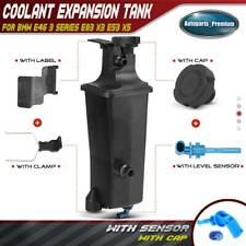 Radiator Coolant Overflow Expansion Tank Bottle Reservoir & Sensor & Cap for BMW