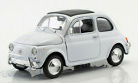 FIAT 500 Classic 1/24 Scale Model Toy Car Diecast Metal Miniature White