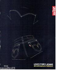PUBLICITE ADVERTISING 056  2003  Levi's  Type 1   jeans pret à  porter **