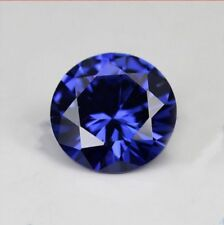 Beautiful 3.10cts 9mm Blue Sapphire Round Faceted Cut AAAAA LOOSE GEMSTONES