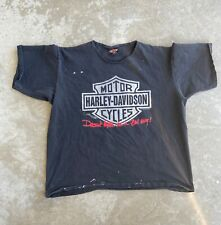 Harley Davidson NOT A BAD GUY LA Vintage 1994 T-Shirt Tee Distressed Shirt XL
