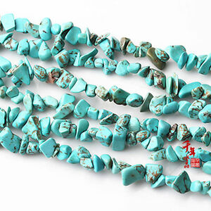 """16""""L turquoise Gemstone Jewelry Loose Chip Beads 1 Strand"""