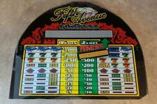"Bally ""Fifth Avenue Fortune"" Slot Machine Glass w/Software On Back (Y-11)"