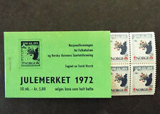 Norway Complete Christmas Seal Booklet 1972