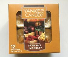 YANKEE CANDLE FARMER'S MARKET TEA LIGHTS BOX OF 12 HTF SCENT