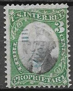 USA Proprietary Scott RB3 3c green and black very nice stamp see scans