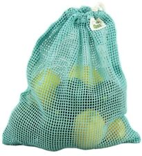 ECOBAGS® Organic Net Drawstring Bag Drawstring Produce Bag Medium Washed Blue