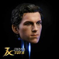 JXtoys 1/6 JX016 Spider-Man Tom Holland Head Sculpt Carved Fit 12'' Figure