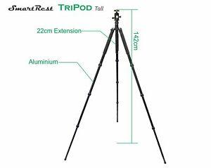 Tripod - Alloy tripod Tall + Ball Head + Clamp Rail - SmartRest very sturdy