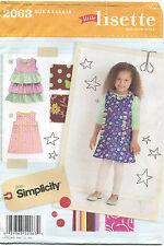 Simplicity 2063 Little Lisette Girls Dresses Sewing Pattern Size 3-8