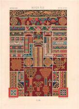 RACINET ORNEMENT POLYCHROME 40 Medieval decorative arts patterns motifs c1885