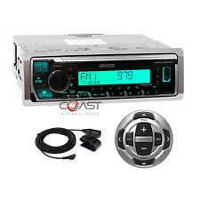 Kenwood USB MP3 BT Sirius Alexa Marine Boat Radio Receiver w Remote KMR-M328BT
