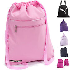 Gym Bag for Women Mens Drawstring backpack water resistant PE rucksack by JEEP