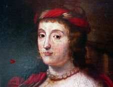 British 17 -18 ct.Oil on canvas Painting Maria Stuart Queen of Scots