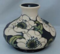 Moorcroft Snow Song vase by Rachel Bishop - 10.5cm tall - original label £260
