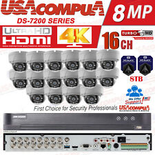 Hikvision 4K 16CH SECURITY SYSTEM KIT 5MP OUTDOOR DOME 8TB HDD 4K-UHD
