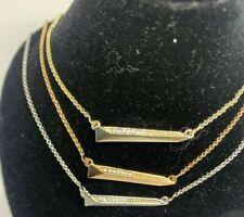 NWT Kendra Scott Elliot Pendant Necklace Silver, Gold, & Rose Gold MSRP $50