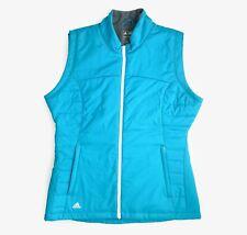 Adidas Golf Climawarm Padded Gilet Vest Bodywarmer Jacket Turquoise Blue Medium
