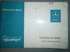 Mercedes 1626 - 1632 - 1719 - 1919 - 1926 - 1932 : Notice d'entretien 1976