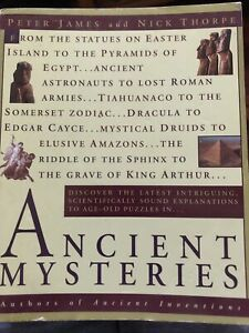 Ancient Mysteries by Peter James and Nick Thorpe (1999, paperback)  New Sealed