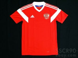 adidas Russia 2018 Home RED Soccer Jersey Football Shirt BR9055 XS CLIMALITE