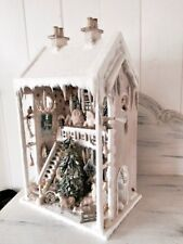 Antique Christmas German winter wonderland large musical Snow House